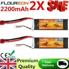 2x Floureon 2S 7.4V 2200mAh 35C LiPo RC Battery Deans For RC Car Boat Quadcopter
