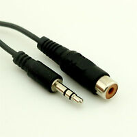 """1x 3.5mm 1/8"""" Stereo Male Plug to RCA Female Adapter Audio Extension Cable 20cm"""
