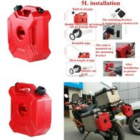 5L/1.3 Gallon Red Motorcycle Gas Can Oil Container Fuel-jugs w/ Lock +Mount Kit