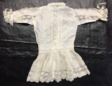 "Vintage White Doll Dress Flapper Style 10.5""long"