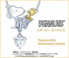 New! Peanuts Snoopy 65th Anniversary Jewelry Necklace Woodstock, f/s from Japan