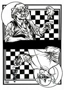 Quinton Hoover Original Black and White Artwork - Virtual Chess