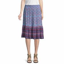 NWT $ 32st. john's bay  blue geo print boho  skirt medium