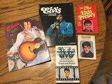 Lot 5 VTG Elvis Presley Paperback Books Original Personal Collection 1977