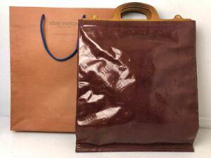 Authentic Louis Vuitton Vernis Stanton Handbag Purple Purse