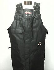 EUC $225 Mens DURATRAK Black MOTORCYCLE Racing Pants/Bib Padded Thermolite XL *