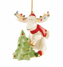 Lenox C 00004000 hristmas Marcel Moose & Tree Ornament Dated 2020