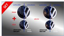 Folierung-Set schwarz glanz/matt passt für Front + Heck VW-Emblem Golf VII (5G)