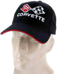 Corvette C4 Flags Black White Red Baseball Cap Trucker Hat Snapback Stingray
