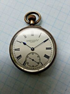 silver English lever pocket watch Camerer , Kuss & Co  1924