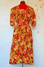 40s50s vintage dirndl   great flower print dress