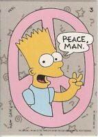 1990 Topps The Simpsons Stickers #3 Bart - Peace, Man