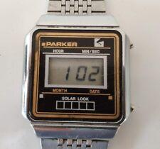 Rare PARKER Reloj Vintage Digital Watch - Funcionando