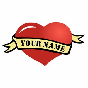 Custom Personalized Name Heart Temporary Tattoo Waterproof forever love