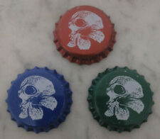 3 CHAPAS CERVEZA TAPON CORONA BEER BOTTLE CAPS SPAIN HOBAC