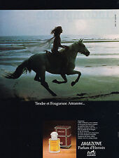 PUBLICITE ADVERTISING 044  1979  AMAZONE  parfum d'HERMES