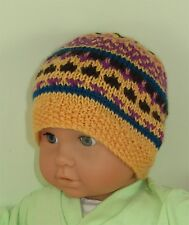 PRINTED INSTRUCTIONS-BABY & TODDLER SIMPLE FAIRISLE BEANIE HAT KNITTING PATTERN