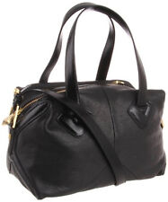 Pour la Victoire PLV Brice Medium Duffle BLACK Leather Satchel Purse $345 NWT