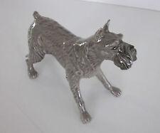 Vintage Creamware Heredities Schnauzer Dog from England Mint