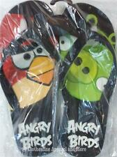 Women's Flip Flops SZ 6 7 8 9 10 11 Sandals Angry Birds New Black Red Shoes