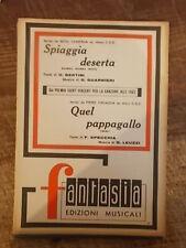 """SPARTITO CAMERON """"SPIAGGIA DESERTA"""" + FOCACCIA """"QUEL PAPPAGALLO"""""""