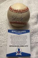 Ken Griffey Jr. Signed AUTOGRAPHED Vintage OAL Baseball BAS BECKETT