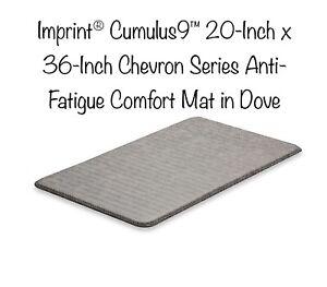 Imprint® Columbus9 -20 x 36-Inch Chevron Series Anti-Fatigue Comfort Mat in Dove