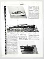 1930 Magazine Photo Matthews Cabin Cruiser Boat, Robinson Seagull 45' Commuter