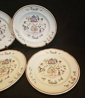 Country Home Jamestown China (4) Dinner Plates Japan  Action Industries Inc