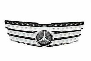 2008 - June 2012 for Mercedes Benz X204 GLK Class Sport Grille White Paint #960