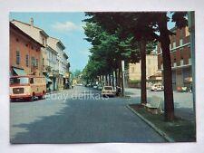 CAORSO Via Roma Vespa Piaggio Fiat 500 Piacenza vecchia cartolina