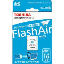 Toshiba 16GB SD SDHC Secure Digital Class 10 Wireless LAN Wifi 16 G GB FlashAir