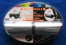 Bicygnals BIC246S Twin Front and Rear Bicycle Lights - Silver