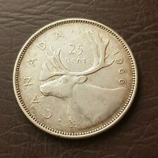 Canada 1966 25 Cents Elizabeth II Silver Quarter Coin 25 Cent