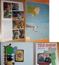 Télé Babar de Laurent de Brunhoff. Hachette 1969. EO. bon état interieur