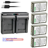 Kastar Battery Dual USB Charger for Olympus BLS-5 & Olympus E-PL8 EPL8 Camera