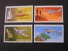 PAPUA NEW GUINEA, SCOTT # 348-351(4) 50TH ANNIVERSARY OF AIR FLIGHT ISSUE MNH
