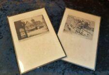 Brown Engraving Original Art Prints