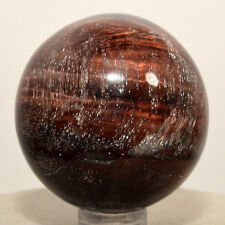 45mm Red Tiger's Eye Sphere Chatoyant Mineral Ball Dragon's Eye Stone - Africa