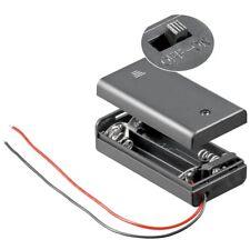 Batteriehalter für 2x Mignon Kabel + Gehäuse + Schalter