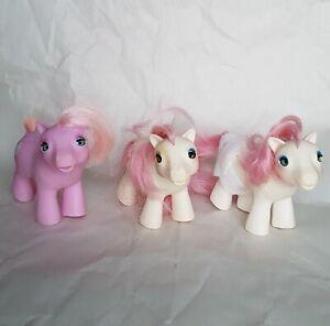 Vintage My Little Pony 3 BBE Baby Beddy Bye Eye Tiddly Winks Sundance Lot 5