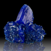 """5.9"""" IntenseVivid NeonBlue CHALCANTHITE Sharp Crystals Lab Grown Poland for sale"""