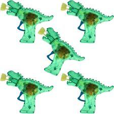 """5x Seifenblasenpistole """"Dino-Gun"""" mit Lichteffekt inkl. Seifenblasenflüssigkeit!"""