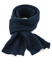 B469 Beechfield Metro Knitted Scarf Ladies Snug Ribbed Knit Soft Touch Scarf