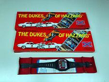 1981 Old Vtg Dukes Of Hazzard LCD Quartz Wristwatch Watch With Original Box