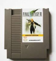 Final Fantasy 7 VII (English) unreleased rom hack NES Nintendo rpg game cart
