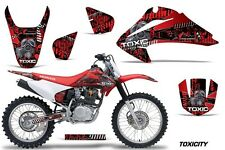 Honda CRF 150/230F Graphic Kit AMR Racing Decal Sticker Part 03-07 TOXICITY RED
