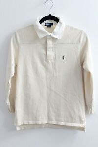 Boys Ivory Polo Ralph Lauren Long Sleeved Polo Shirt 8 / 10 Years