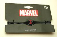 Marvel Comics Black Widow Spider-woman Logo Crystal & Rope Bracelet New NOS Card