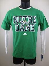 New-Minor Flaw-Notre Dame Fighting Irish Youth Sizes M-L Green Layered Shirt